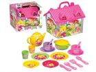 Toy Tea Set Kids Pretend Teapot Play Party Portable Carry Case House Gift 19pc